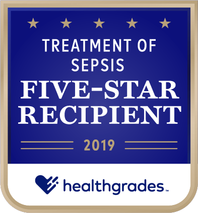 Healthgrades Five Star Reciient emblem